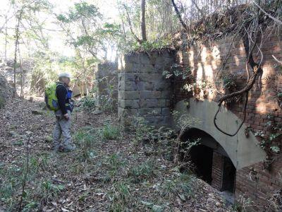 半地下式の棲息掩蔽部