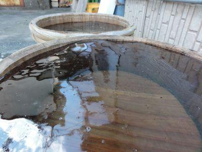 河内酒造の樽