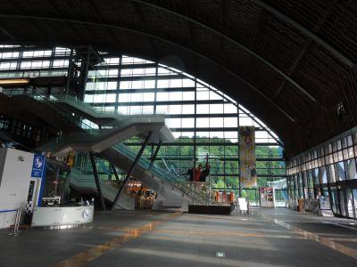 閉館後の九州国立博物館