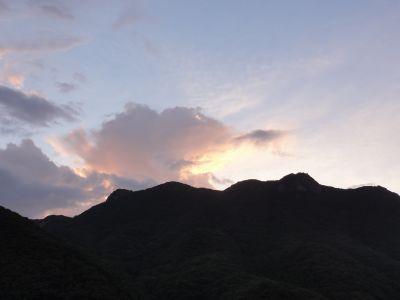 城山の朝焼け