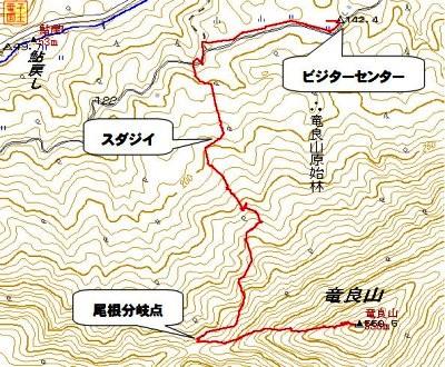 龍良山ルート図