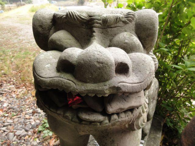 雷命神社の狛犬