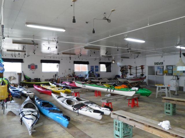 カヤック艇庫