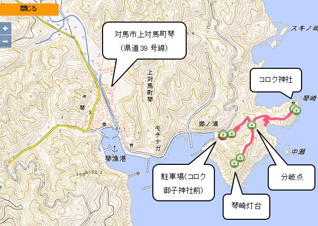 胡禄神社への道